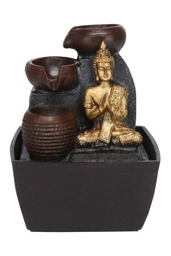 Metallic Finish 3 Step Buddha Fountain Idol