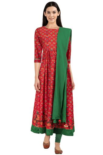 HAUTE CURRY -  OrangeSalwar & Churidar Suits - Main
