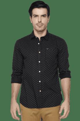 Flying Machine Formal Shirts (Men's) - Mens Full Sleeves Slim Fit Printed Casual Shirt