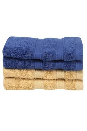 Solid Textured Wash Towel Set of 4