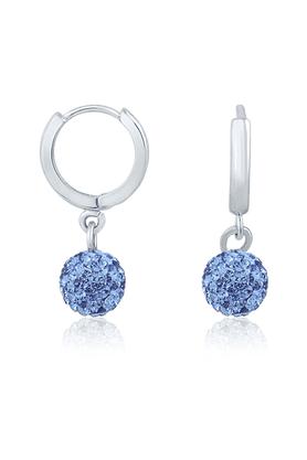 MAHIMahi Rhodium Plated Dangle & Drop Earring For Women  ER1104028RBlu