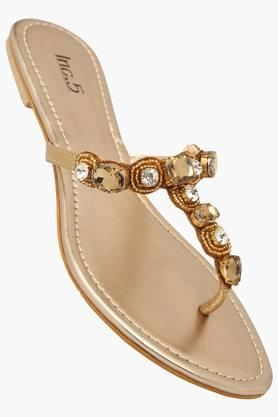 INC.5 Womens Party Wear Slipon Flat Sandal