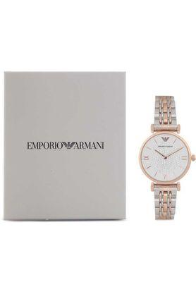 Womens White Dial Metallic Analogue Watch - AR1926I