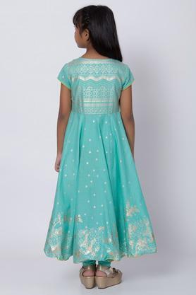 BIBA GIRLS - TurquoiseSalwar Kurta Set - 1