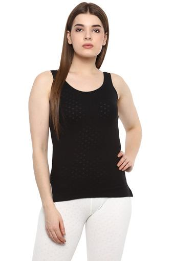 Womens Self Printed Knitted Thermal Top