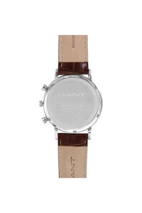 Mens White Dial Leather Multi-Function Watch - W11201