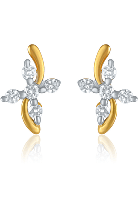 MAHIMahi Endearing Gold Plated Curve Earrings With CZ For Women ER1109133G