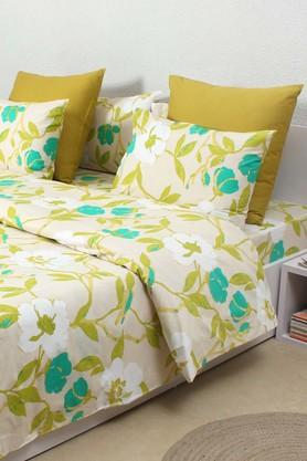 HOUSE THIS The Chic Chintz 100% Cotton Outer.Inner Polyfill Double Dohar - Green  ...