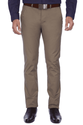UNITED COLORS OF BENETTONMens Flat Front Slim Fit Solid Chinos