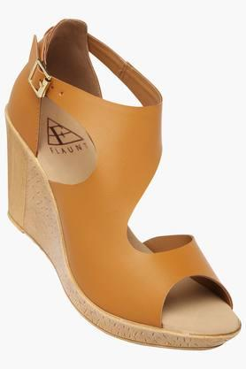 FEMINA FLAUNT Womens Party Wear Ankle Buckle Closure Wedge Sandals