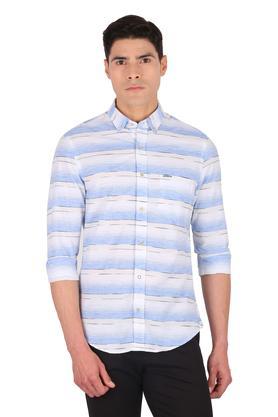 Mens Button Down Collar Stripe Shirt