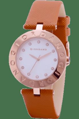 GIORDANOWomens Brown Silicon Strap Analog Watch- 2754-06