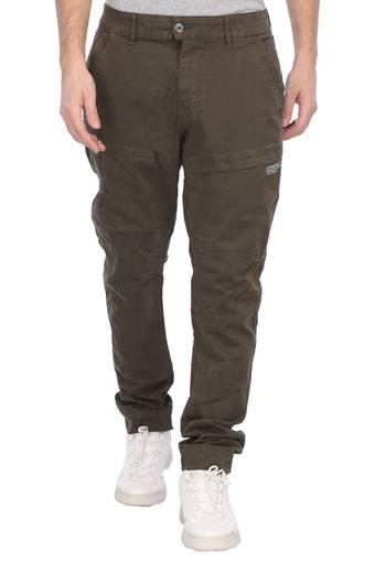 FLYING MACHINE -  Light Grey Cargos & Trousers - Main