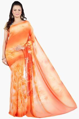 JASHN Women Floral Abstract Print Georgette Saree