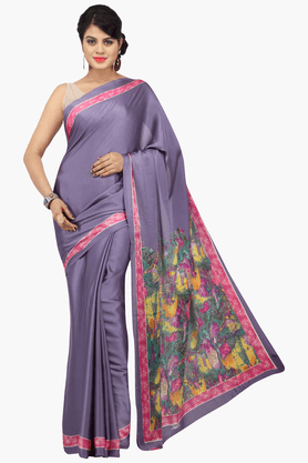 JASHN Womens Solid Saree With Blouse Piece - 201313018