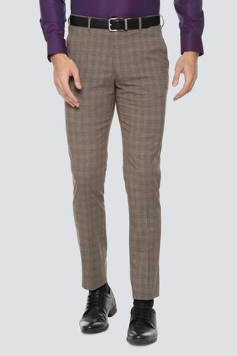 LOUIS PHILIPPE -  Light BrownFormal Trousers - Main
