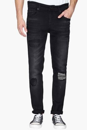 BEING HUMANMens 5 Pocket Skinny Fit Mild Wash Jeans