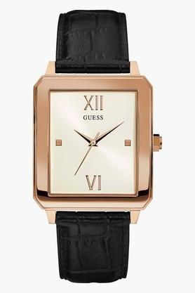 GUESS Rose Gold Tone Genuine Leather Highrise Watch W0918G2