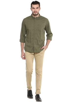 Mens Button Down Collar Printed Shirt
