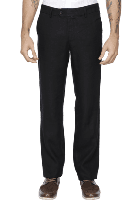 INDIAN TERRAIN Mens Slim Fit Solid Chinos - 200699401