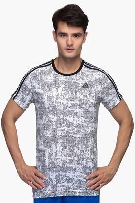 ADIDASMens Round Neck Printed T-Shirt