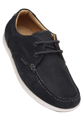 HUSH PUPPIESMens Blue Leather Casual Lace Up Shoe