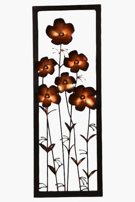 MALHAR Wrought Iron Tin Daisy Copper Flower Panel Wall Decor