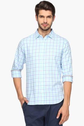 United Colors Of Benetton Formal Shirts (Men's) - Mens Regular Collar Check Shirt