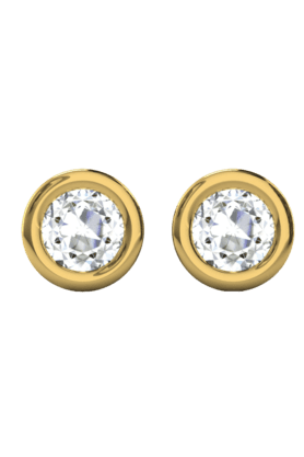SPARKLES His & Her Collection 9 Kt Solitaires Earrings In Gold And Real Diamond 0.25 Cts HHT6363-9KT