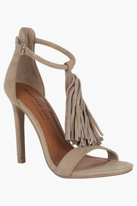STEVE MADDEN Womens Casual Ankle Buckle Closure Heel Sandals