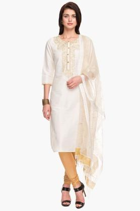 IMARA Womens Embroidered Churidar Suit