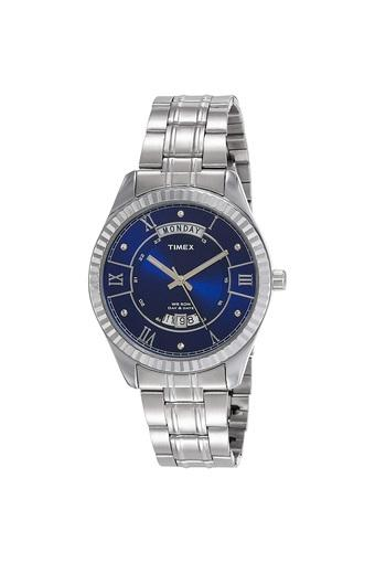 Mens Blue Dial Stainless Steel Analogue Watch - TW0TG6201