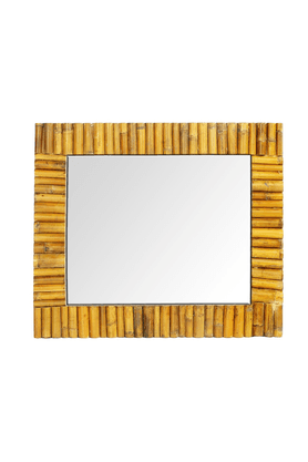 LIVING WORLD Rectangular Bamboo Inlayed Mirror