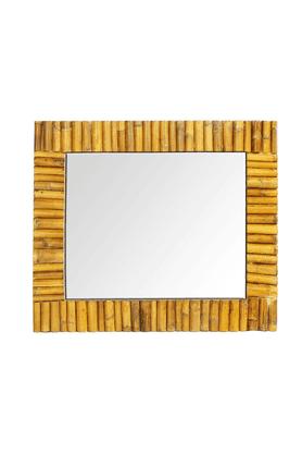 LIVING WORLDRectangular Bamboo Inlayed Mirror