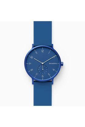 Womens Aaren Kulor Blue Dial Silicone Analogue Watch - SKW6508
