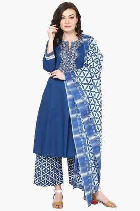BIBAWomens Cotton Kalidar Suit Set - 202179623