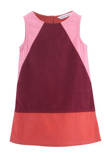 Girls Round Neck Colour Block Shift Dress