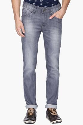 FLYING MACHINE Mens 5 Pocket Skinny Fit Heavy Wash Jeans (Jackson Fit) - 202045665