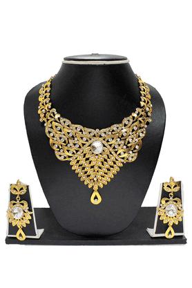 ZAVERI PEARLSGOLD Plated Designer Necklace Set - ZPFK1064