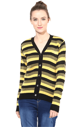 THE VANCA Women Wool Acrylic Cardigan - 200344452