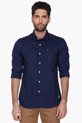 Flying Machine Formal Shirts (Men's) - Mens Slim Fit Printed Shirt