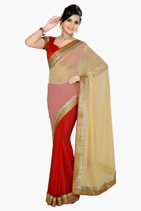 DEMARCA Womens Embroidered Saree - 201151691
