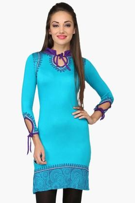 IRA SOLEILWomens Slim Fit Printed Kurta (Buy Any Ira Soleil Product And Get A Charms Bracelet Free) - 201787535