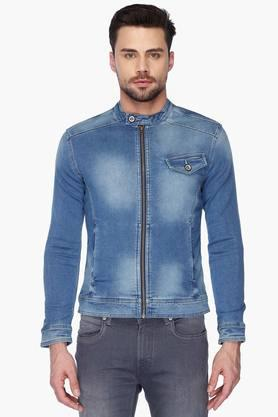 FLYING MACHINE Mens Band Collar Slim Fit Assorted Jacket