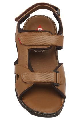 Mens Synthetic Leather Velcro Closure Sandals