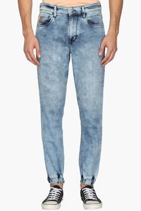 U.S. POLO ASSN. DENIMMens 5 Pocket Jogger Fit Stone Wash Jeans