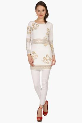IRA SOLEILWomens Slim Fit Printed Kurta (Buy Any Ira Soleil Product And Get A Charms Bracelet Free) - 201787629