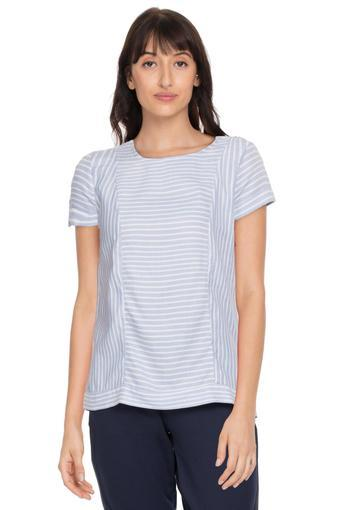 ALLEN SOLLY -  Mid Blue Tops & Tees - Main
