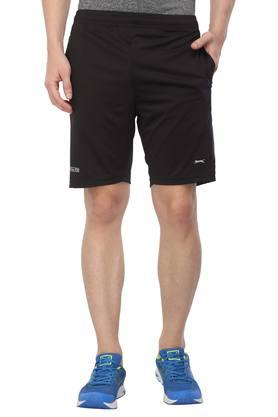 Mens 2 Pocket Solid Sports Shorts