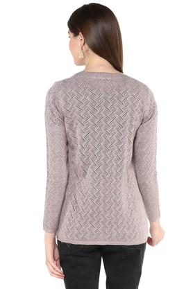 Womens V Neck Knitted Cardigan